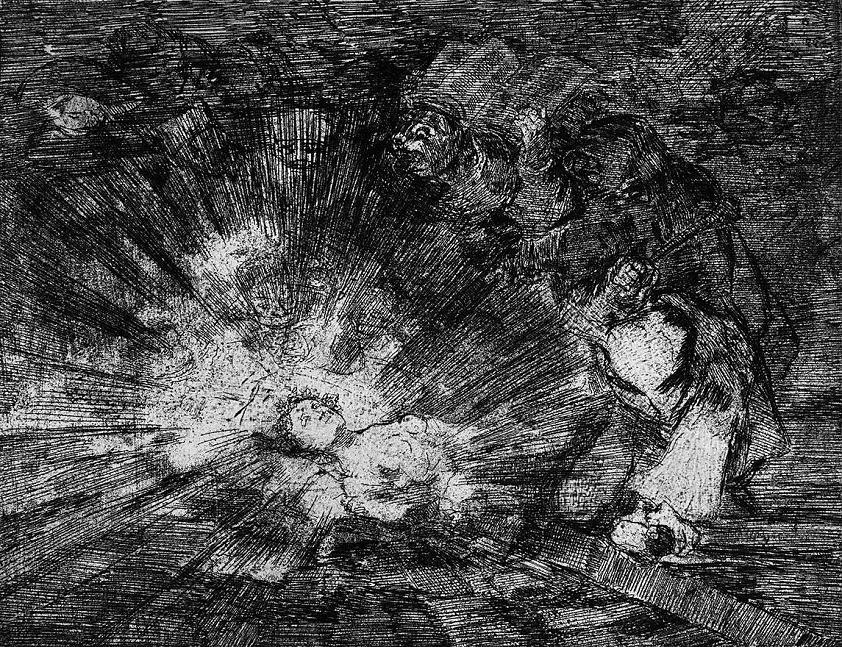 Vrcholným umem Francisca de Goyi byla technika zvaná Akvatinta